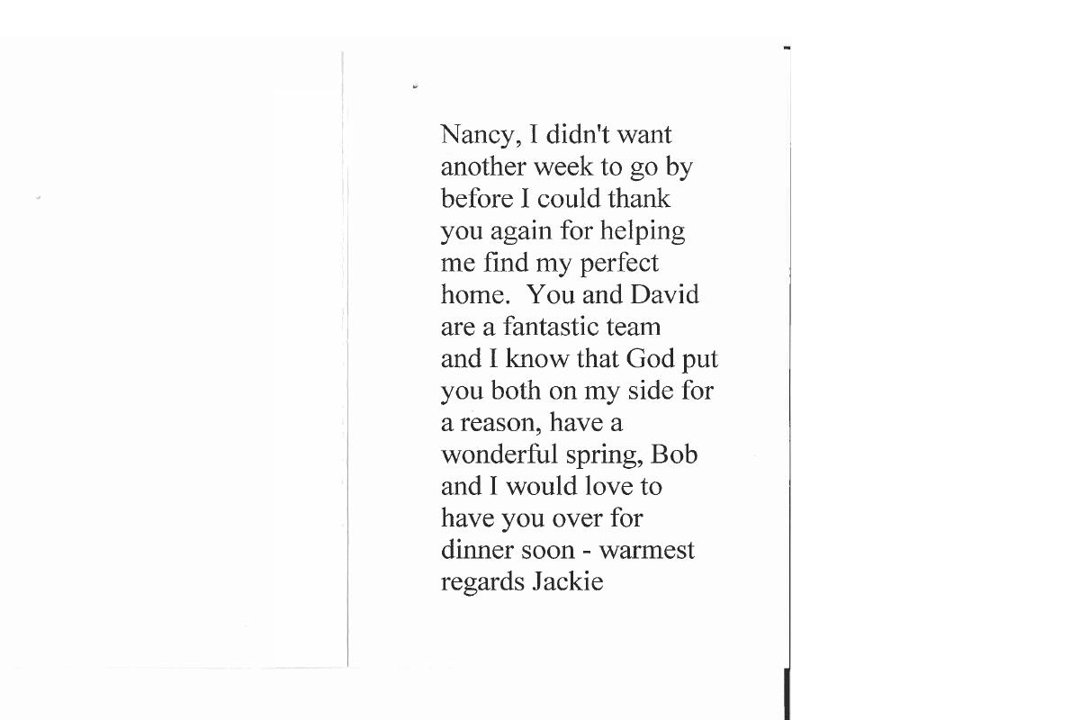 Nancy Benard Testimonial